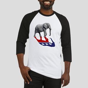Republican Elephant Shadow Baseball Jersey