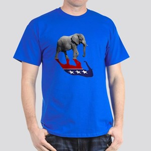 Republican Elephant Shadow Dark T-Shirt
