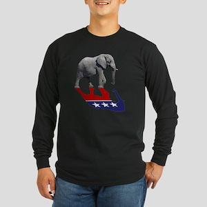 Republican Elephant Shadow Long Sleeve Dark T-Shir