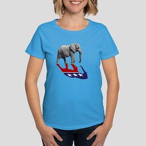ddedaf11fd1d55 Republican Elephant Shadow Women s Dark T-Shirt