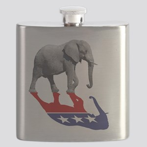 Republican Elephant Shadow Flask
