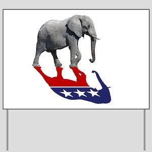Republican Elephant Shadow Yard Sign