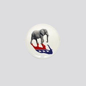 Republican Elephant Shadow Mini Button