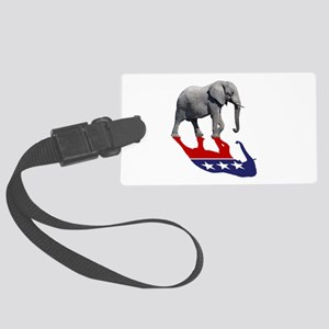 Republican Elephant Shadow Large Luggage Tag