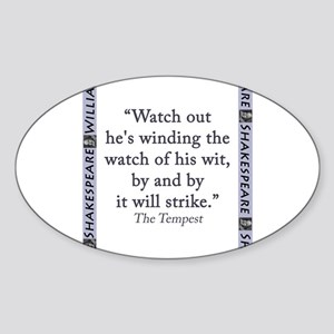 Watch Out Hes Wind The Watch Sticker (Oval)