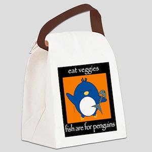 3-penguinveg2 Canvas Lunch Bag