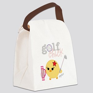 2-golfCHICK3 Canvas Lunch Bag
