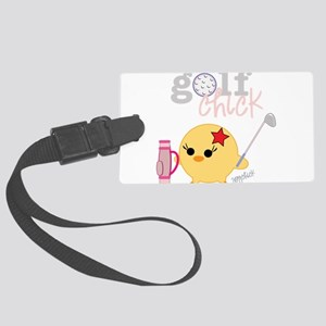 2-golfCHICK3 Large Luggage Tag