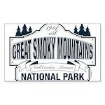 Great Smoky Mountains Na Sticker (Rectangle 10 pk)