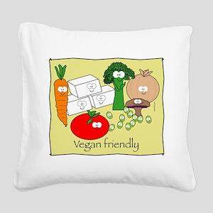 mushroom_veganfriendlybl Square Canvas Pillow