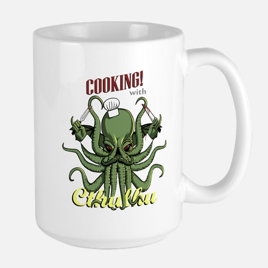 Cooking with Cthulhu Large Mug