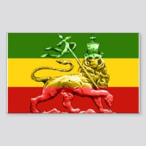 Rasta Reggae Lion of Judah Sticker (Rectangle)