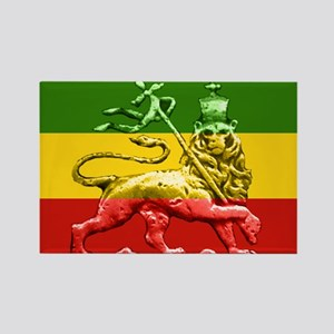 Rasta Reggae Lion of Judah Rectangle Magnet