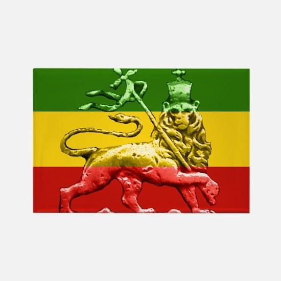 Rasta Reggae Lion of Judah Rectangle Magnet