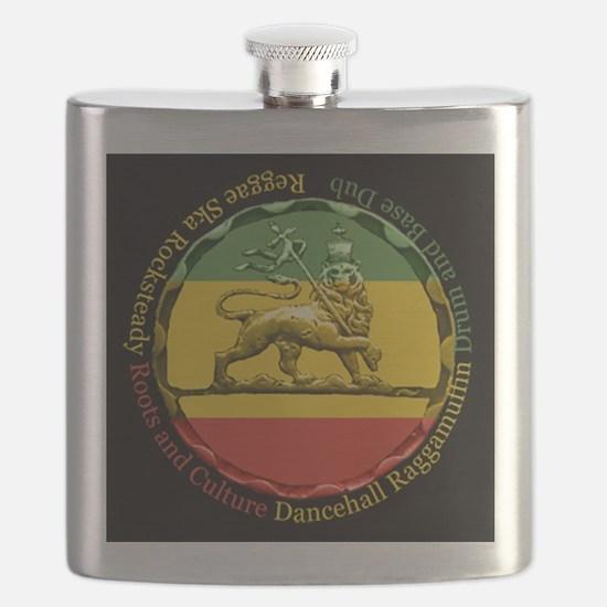 Reggae Music Lion of Judah Flask