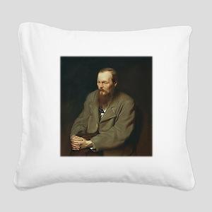 Fyodor Dostoevsky Square Canvas Pillow