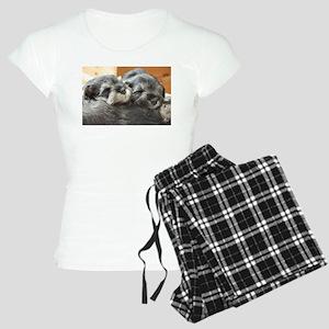 Snoozing Schnauzer Puppies Women's Light Pajamas