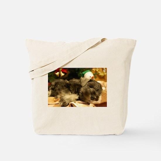 Christmas Snoozing Tote Bag