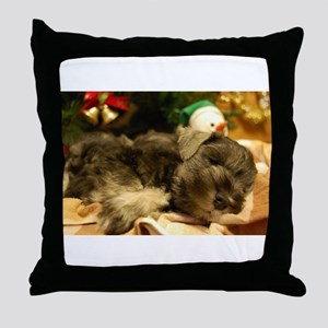 Christmas Snoozing Throw Pillow