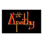 apathy.oval.sticker Sticker (Rectangle 10 pk)