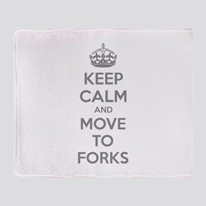 Keep calm and move to forks Throw Blanket