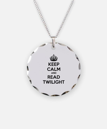 Keep calm and read twilight Necklace