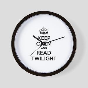 Keep calm and read twilight Wall Clock