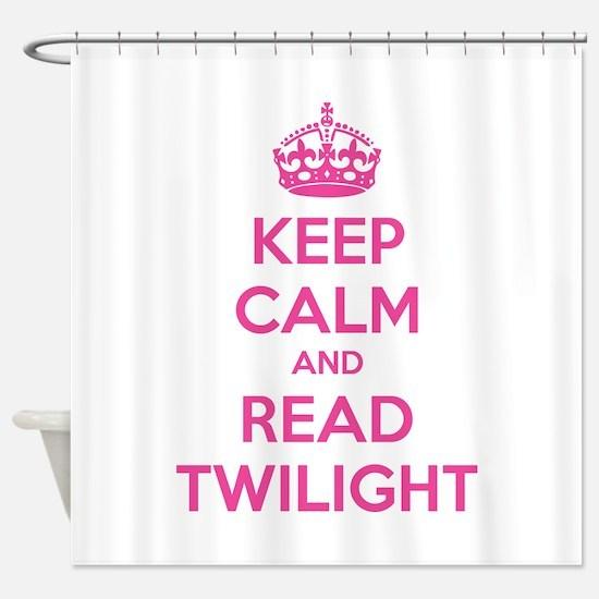 Keep calm and read twilight Shower Curtain