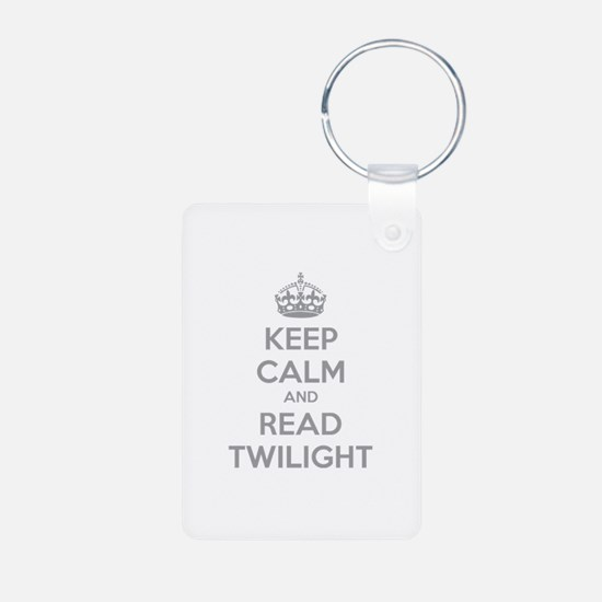 Keep calm and read twilight Keychains