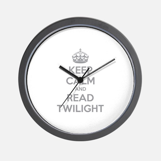 Keep calm and read twilight Wall Clock