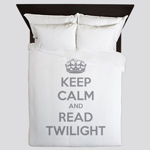 Keep calm and read twilight Queen Duvet