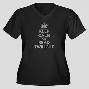 Keep calm and read twilight Women's Plus Size V-Ne