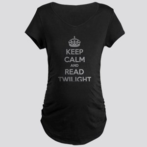 Keep calm and read twilight Maternity Dark T-Shirt