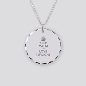 Keep calm and love twilight Necklace Circle Charm