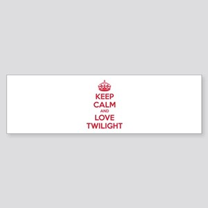 Keep calm and love twilight Sticker (Bumper)