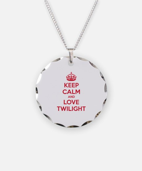 Keep calm and love twilight Necklace