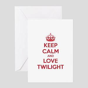 Keep calm and love twilight Greeting Card