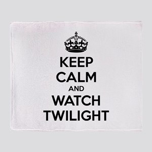 Keep calm and watch twilight Throw Blanket