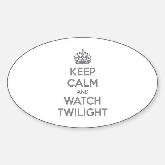 Keep calm and watch twilight Sticker (Oval)