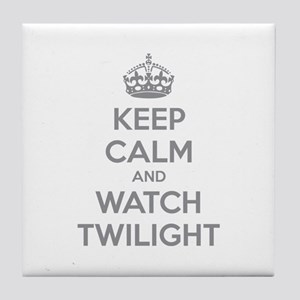 Keep calm and watch twilight Tile Coaster