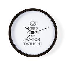 Keep calm and watch twilight Wall Clock