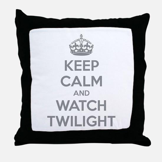 Keep calm and watch twilight Throw Pillow