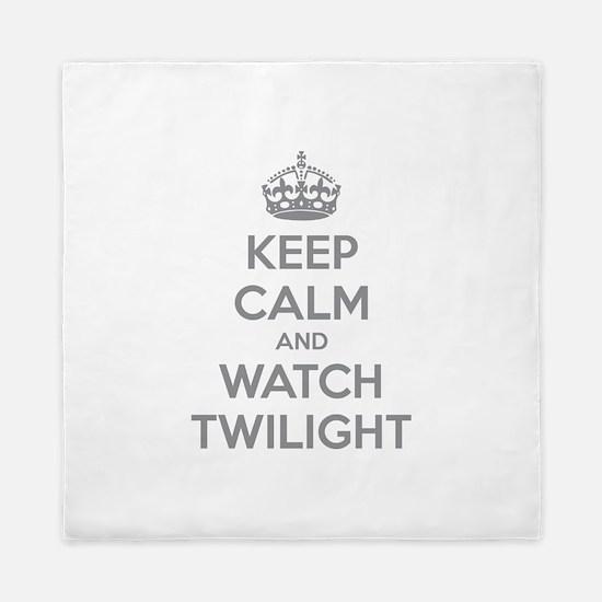 Keep calm and watch twilight Queen Duvet