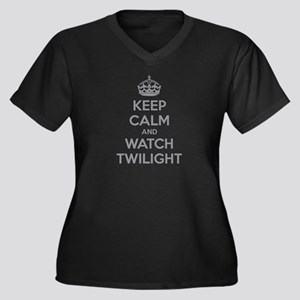 Keep calm and watch twilight Women's Plus Size V-N