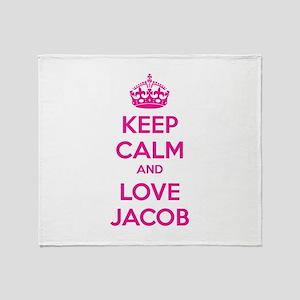 Keep calm and love Jacob Throw Blanket