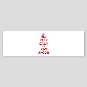 Keep calm and love Jacob Sticker (Bumper)