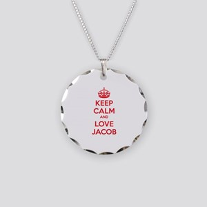 Keep calm and love Jacob Necklace Circle Charm