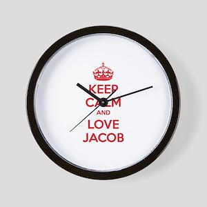 Keep calm and love Jacob Wall Clock