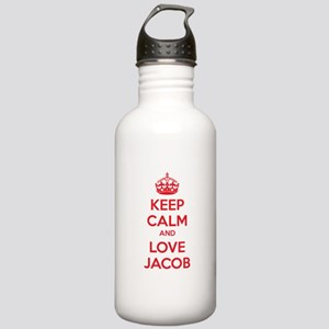Keep calm and love Jacob Stainless Water Bottle 1.