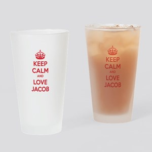 Keep calm and love Jacob Drinking Glass